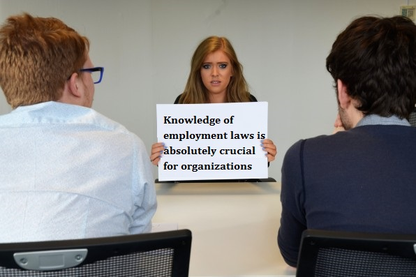 Knowledge of employment laws is absolutely crucial fororganizations