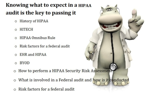 Knowing what to expect in a HIPAA audit is the key to passing it